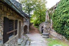Old Castle Ruin in Gosting Graz. Old castle ruins named Gosting in Graz, Styria region of Austria Stock Photo