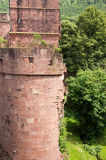 Old castle ruin in heidelberg Royalty Free Stock Photos