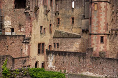 Old castle ruin in heidelberg Stock Photography