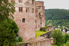 Old castle ruin in heidelberg Royalty Free Stock Photo