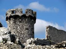 Old castle ruins. The old castle ruins of Ogrodzieniec fortifications, Poland Stock Photography