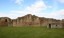 Old castle ruins. Old ruins in north england Royalty Free Stock Images