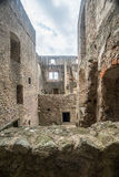 Old castle ruins. Old gothic castle ruins in Karlstejn, southern Czech Republic Royalty Free Stock Image