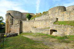 Old castle ruins Kyrburg in Kirn, Germany Stock Photo