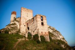 Old castle ruins near czestochowa Stock Image