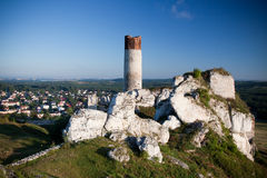 Old castle ruins near czestochowa Stock Photos