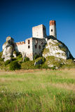 Old castle ruins near czestochowa Stock Photo
