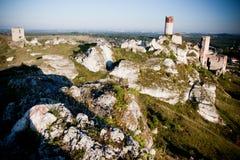 Old castle ruins near czestochowa Royalty Free Stock Image