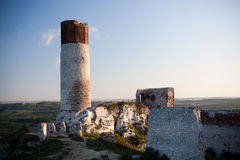 Old castle ruins near czestochowa Royalty Free Stock Image