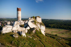 Old castle ruins near czestochowa Royalty Free Stock Photography