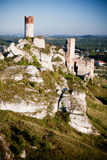 Old castle ruins near czestochowa Royalty Free Stock Photos