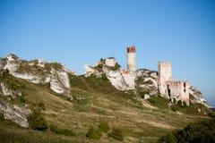 Old castle ruins near czestochowa Stock Photo