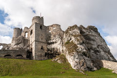 Old Castle Ruins in Ogrodzieniec Stock Image
