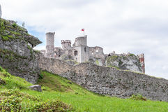 The old castle ruins in Ogrodzieniec Stock Photos