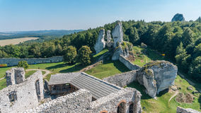 The old castle ruins of Ogrodzieniec stock photography