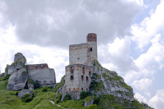 Old castle ruins in Poland in Europe Royalty Free Stock Image