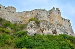 Old castle ruins. Ruins Castle Spissky Hrad in Slovakia stock photos