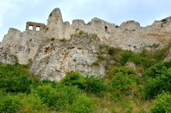 Old castle ruins. Ruins Castle Spissky Hrad in Slovakia royalty free stock photos