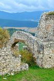 Old castle ruins. Ruins Castle Spissky Hrad in Slovakia royalty free stock images