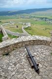 Old castle ruins. Ruins Castle Spissky Hrad in Slovakia royalty free stock photography