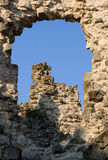 Old castle ruins in Transcarpathian Ukraine. Village Seredne Royalty Free Stock Photography