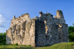 Village Seredne Old castle ruins in  Ukraine Stock Images