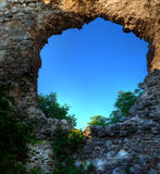 Castle ruins in   village Seredne Ukraine Stock Image