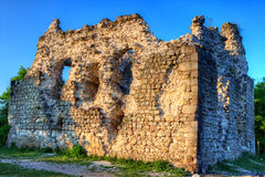 Old castle ruins in Transcarpathian Royalty Free Stock Photography