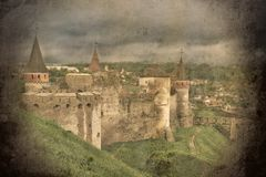 Old castle shot. Retro-styled old castle shot Royalty Free Stock Images