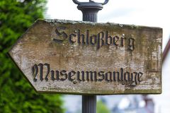 Old castle sign dillenburg germany. An old castle sign dillenburg germany Royalty Free Stock Photography