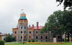 Old castle in Sigulda, Latvia Royalty Free Stock Image