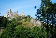 Old castle Sirotci hradek in czech republic Royalty Free Stock Photo