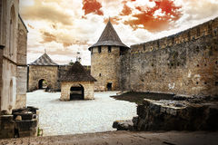 Old castle on the sky background Stock Photo