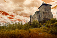 Old castle on the sky background Stock Images