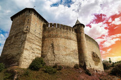 Old castle on the sky background Royalty Free Stock Photography