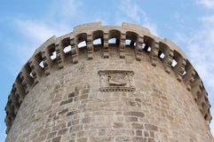 Old castle and sky in Croatia  Royalty Free Stock Photography