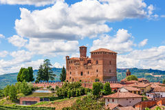 Old castle in small italian town. Royalty Free Stock Image