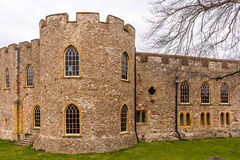 Old Castle in Somerset. Taunton Castle dates from the 12th century and is located in Taunton in the county of Somerset. Now, there is Museum of Somerset Stock Photography