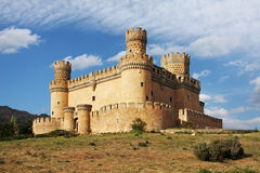 Old Castle in Span - Manzanares Royalty Free Stock Images