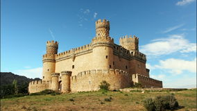 Old Castle in Span - Manzanares, Time lapse stock video