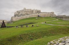 Old castle Spiss Hrad in Slovakia Royalty Free Stock Photo