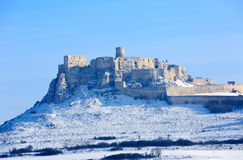 Old castle. Spissky Grad, Slovakia stock photography