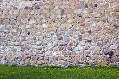 Old castle stone wall background Royalty Free Stock Photos