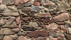 Old castle stone wall.Texture of a stone wall stock video footage