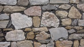 Old castle stone wall.Texture of a stone wall.  stock video footage