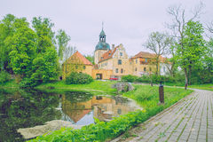 Old castle at Straupe, Latvia. Stock Photos