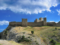 Old Castle of  Sudak Royalty Free Stock Photos