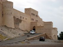 Old castle in the sultanate of oman stock images