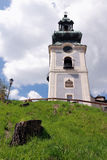 Old castle in summer Banska Stiavnica Stock Photo