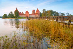Old castle in sunrise time. Royalty Free Stock Photo